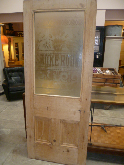 Antique Etched Glass Pub Door Smoke Room Eras Of