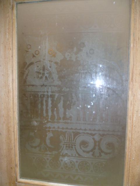 Antique Etched Glass Pub Door Smoke Room Eras Of