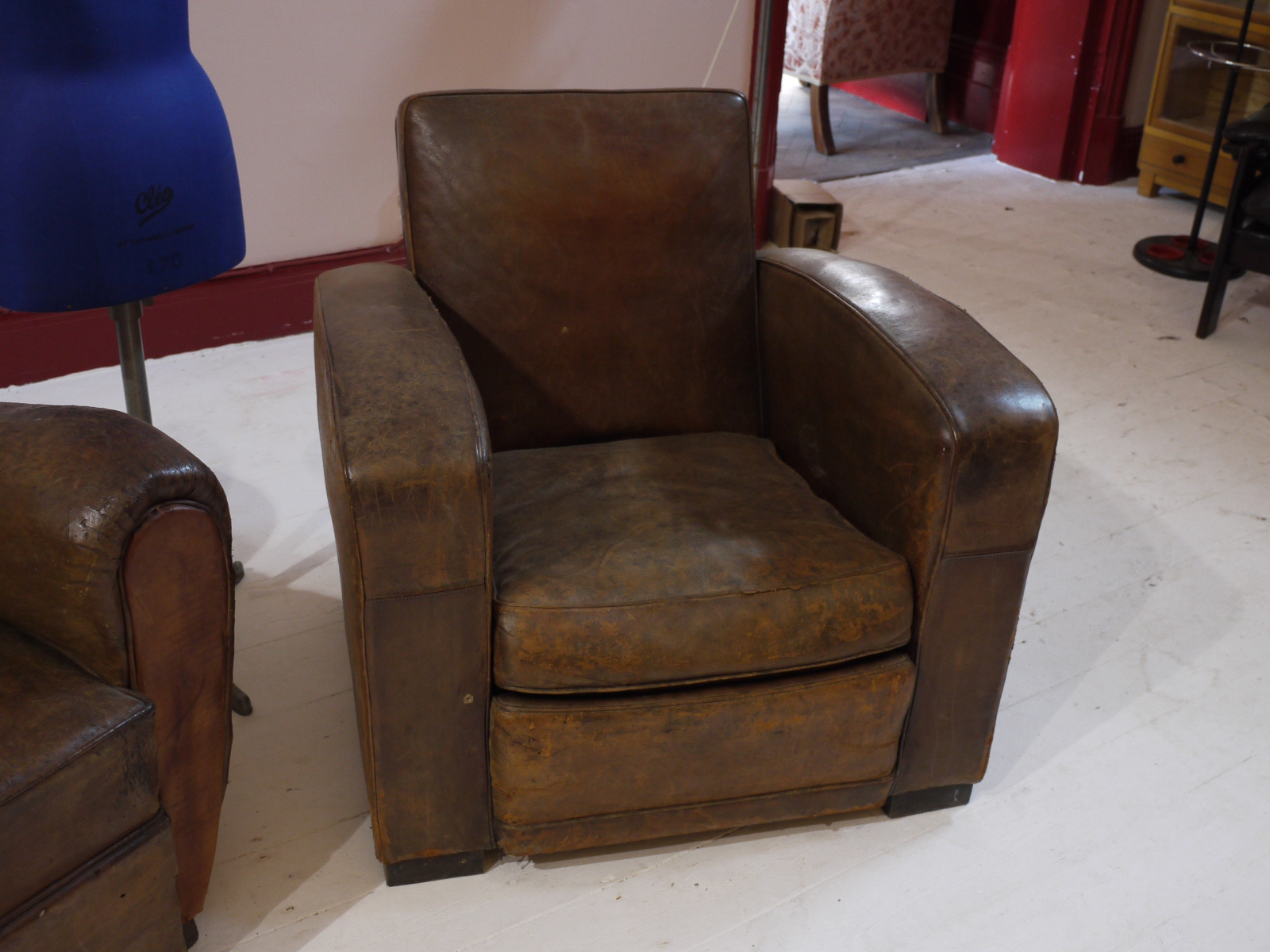 VINTAGE 1920s FRENCH LEATHER CLUB CHAIR Eras of Style