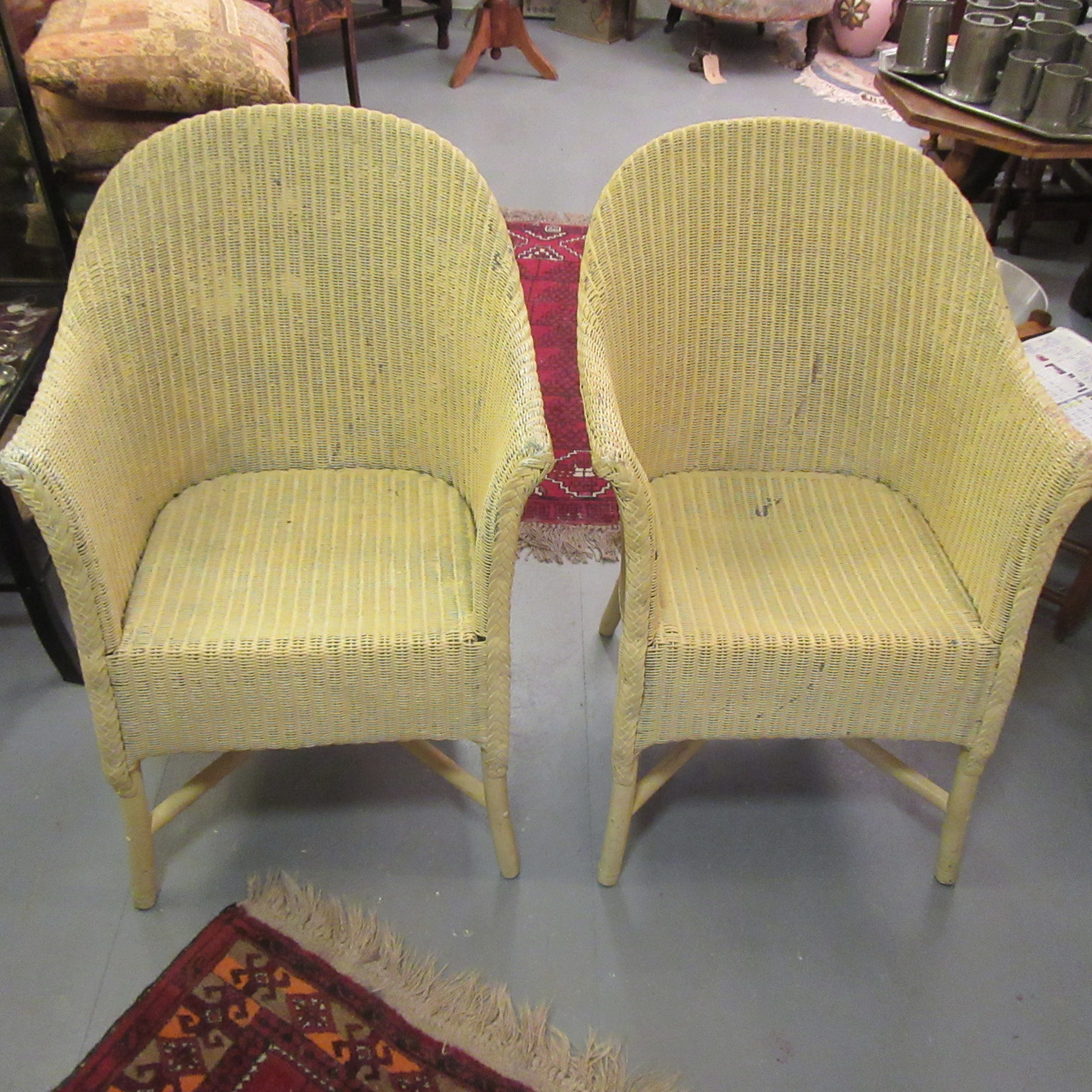 pair of vintage lloyd loom chairs eras of style eras of style. Black Bedroom Furniture Sets. Home Design Ideas