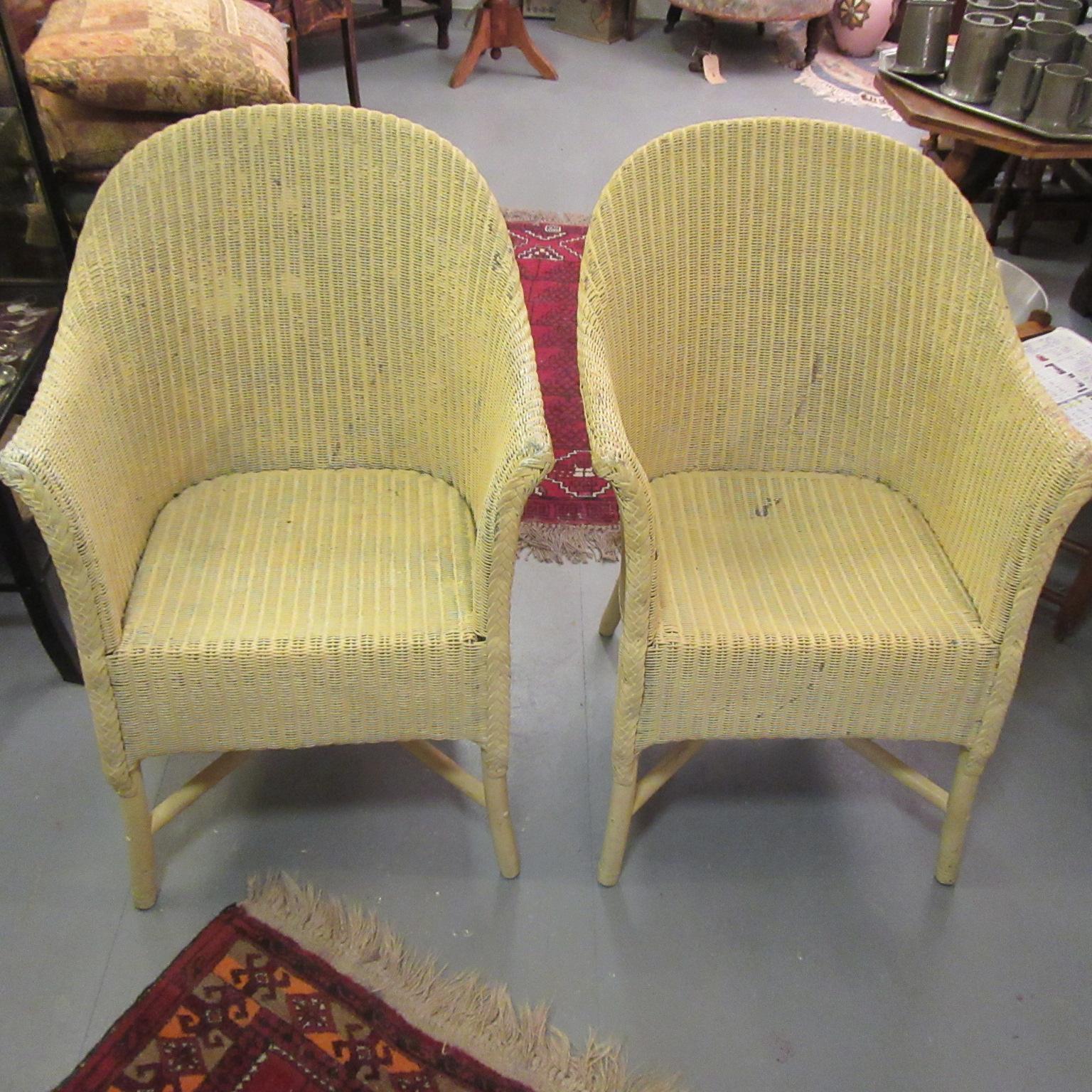 pair of vintage lloyd loom chairs eras of style eras of style. Black Bedroom Furniture Sets. Home Design Ideas