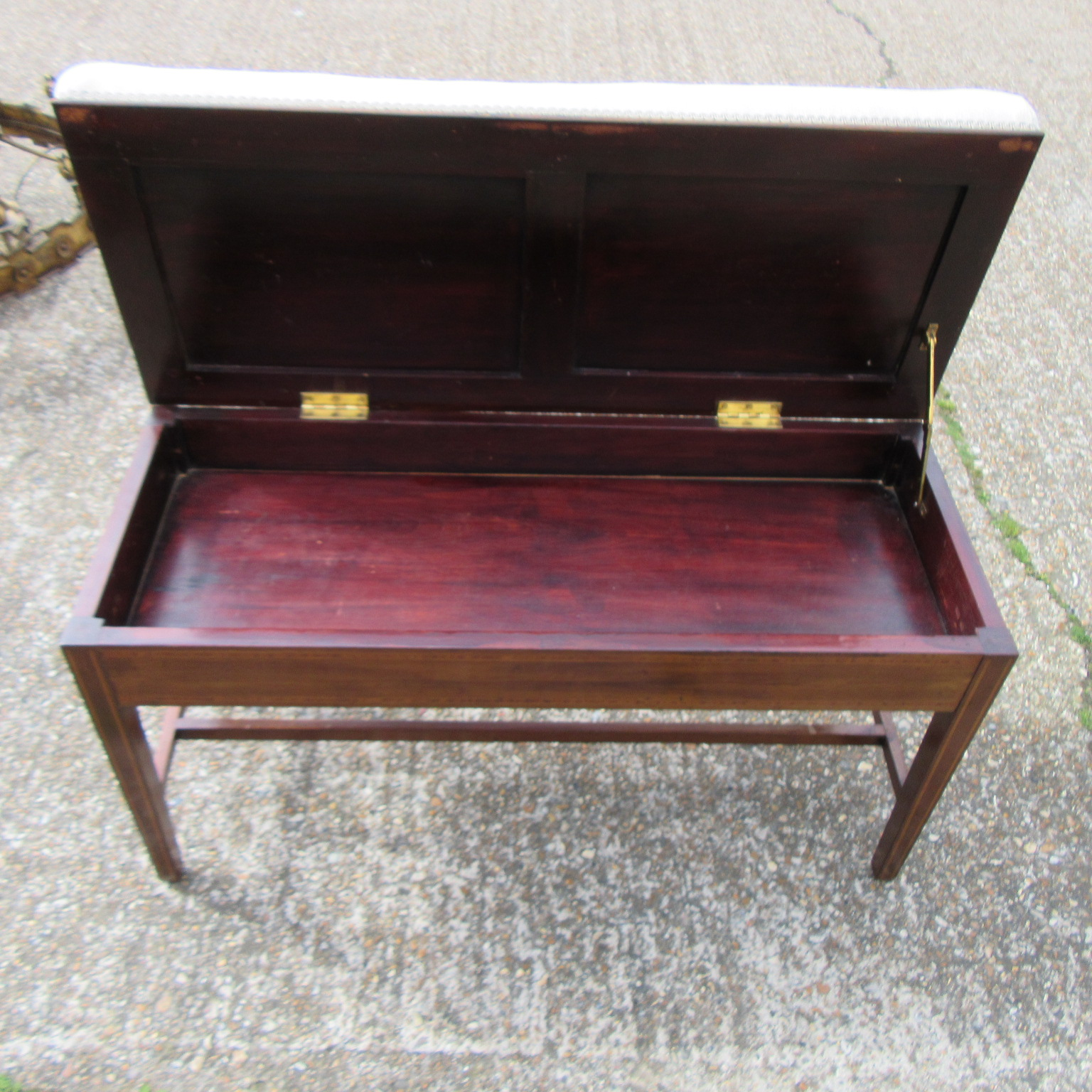 Antique Edwardian Inlaid Piano Stool Eras Of Style Eras Of Style