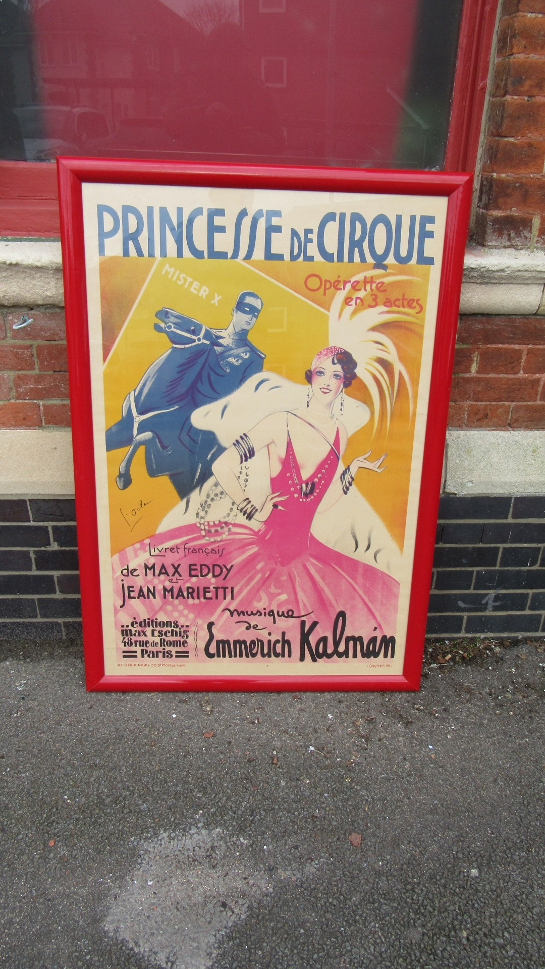 Antique French Circus Poster Eras Of Style Eras Of Style