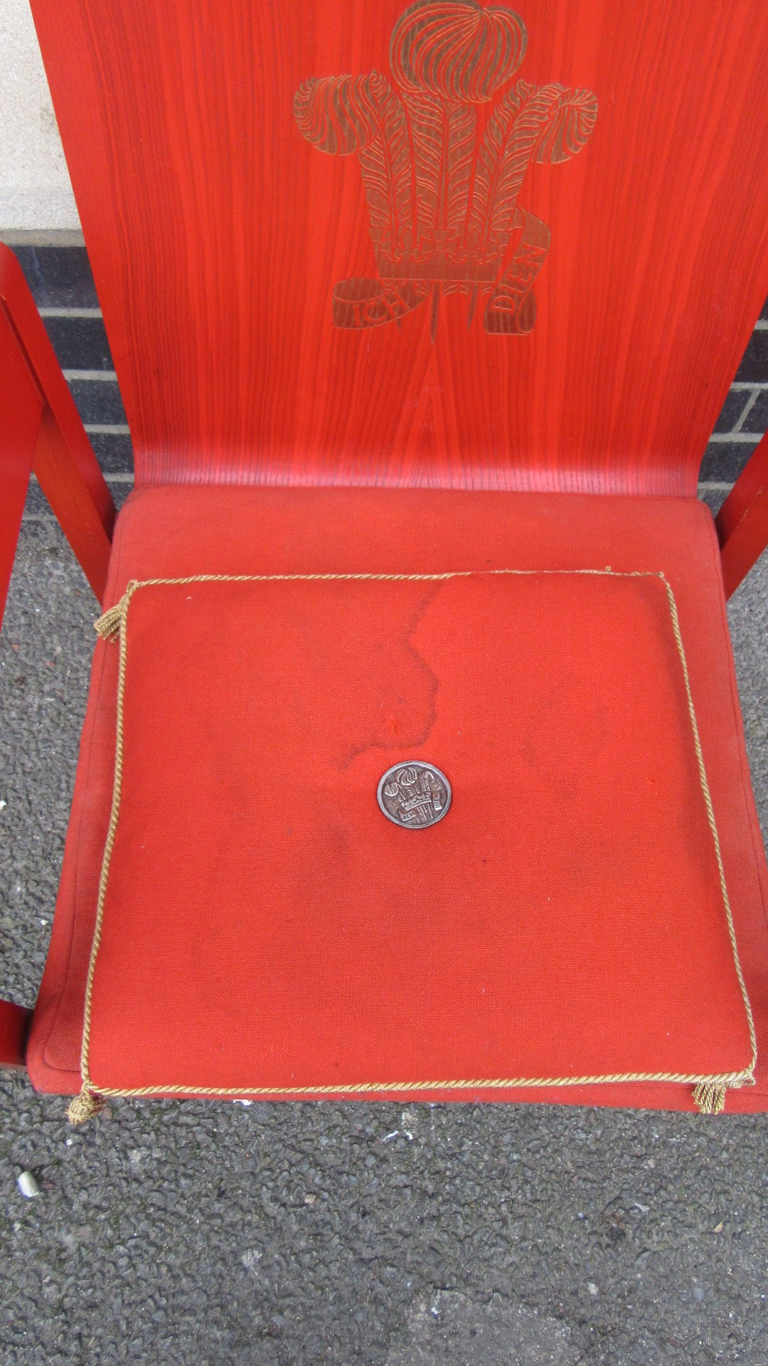 Vintage 1969 Prince Charles Investiture Chair Amp Cushion