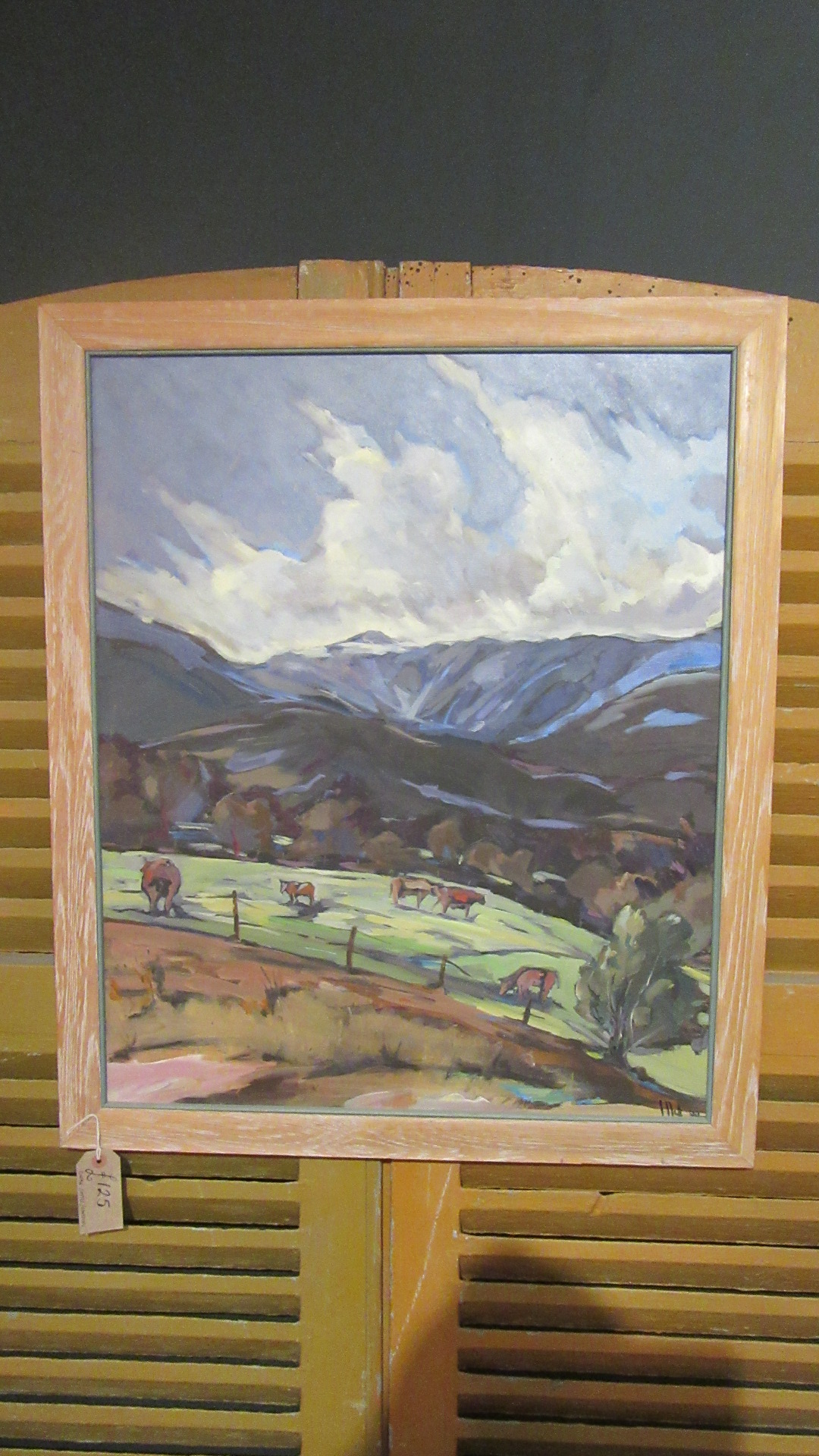 VINTAGE COUNTRY OIL ON CANVAS