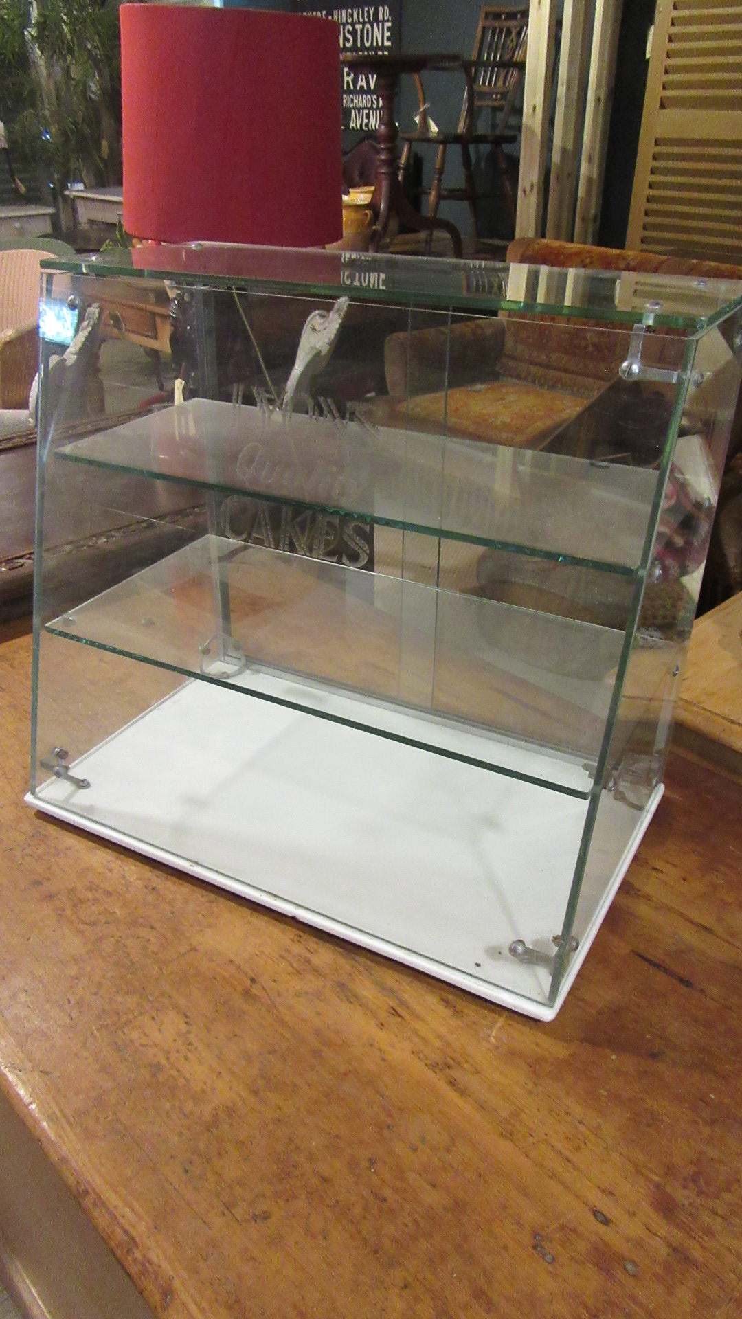 VINTAGE LYONS CAKES SHOP DISPLAY CABINET