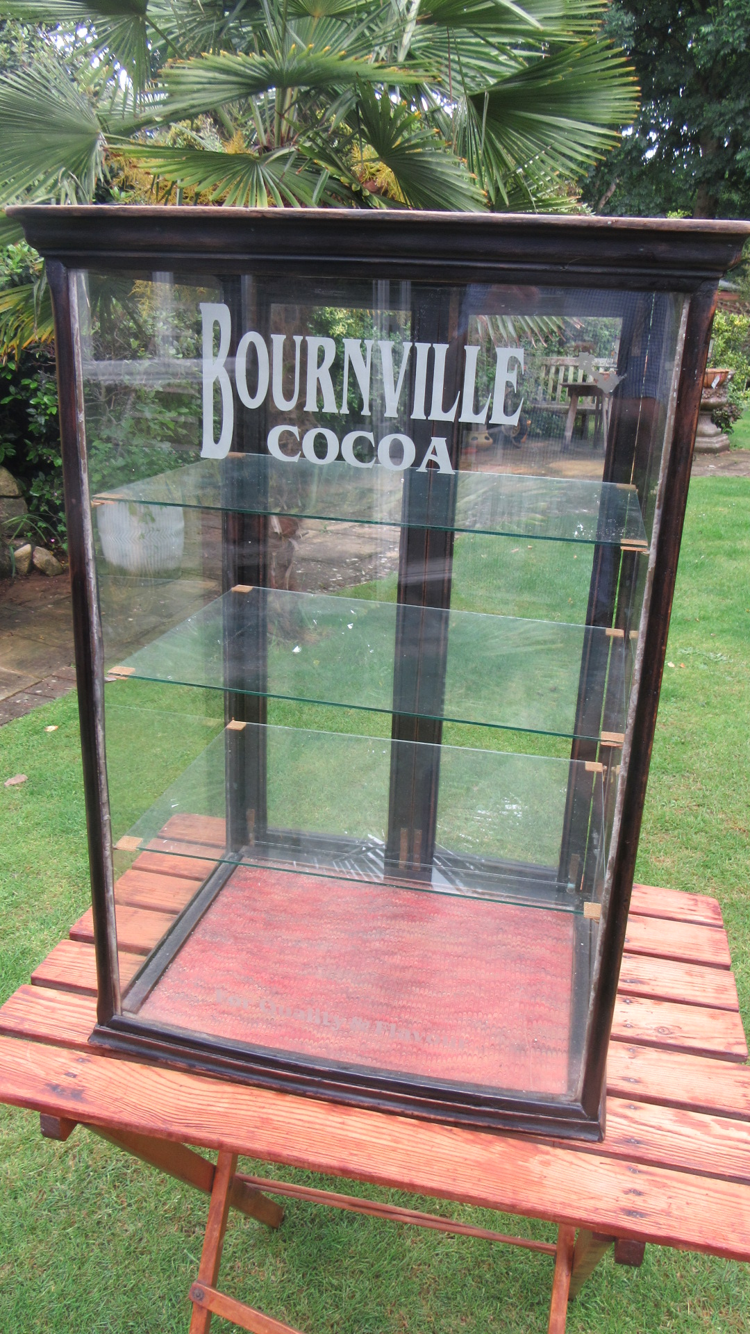 ORIGINAL ANTIQUE BOURNVILLE COCOA SHOP DISPLAY CABINET
