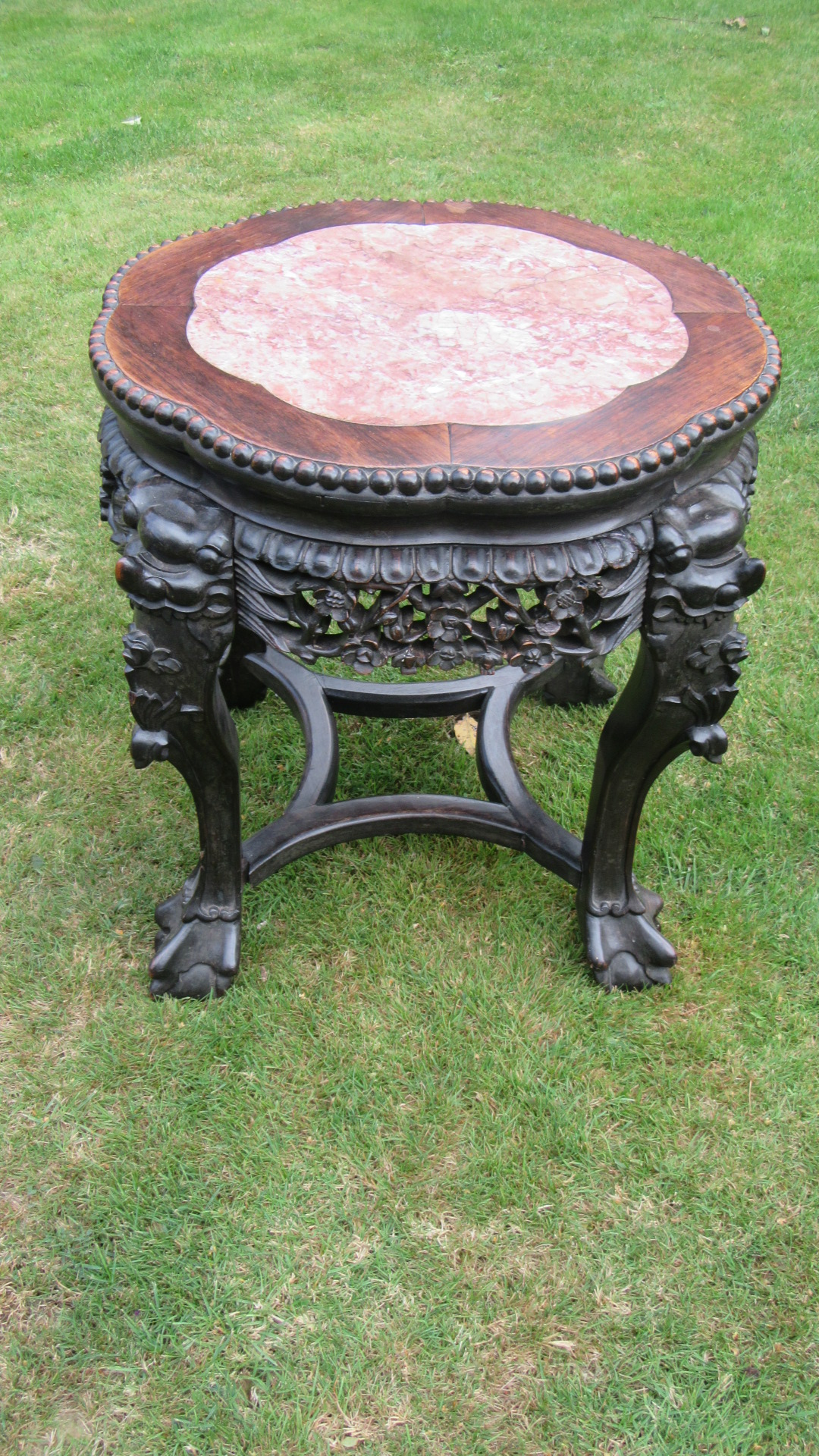 ANTIQUE CHINESE EXPORT ROSEWOOD STAND