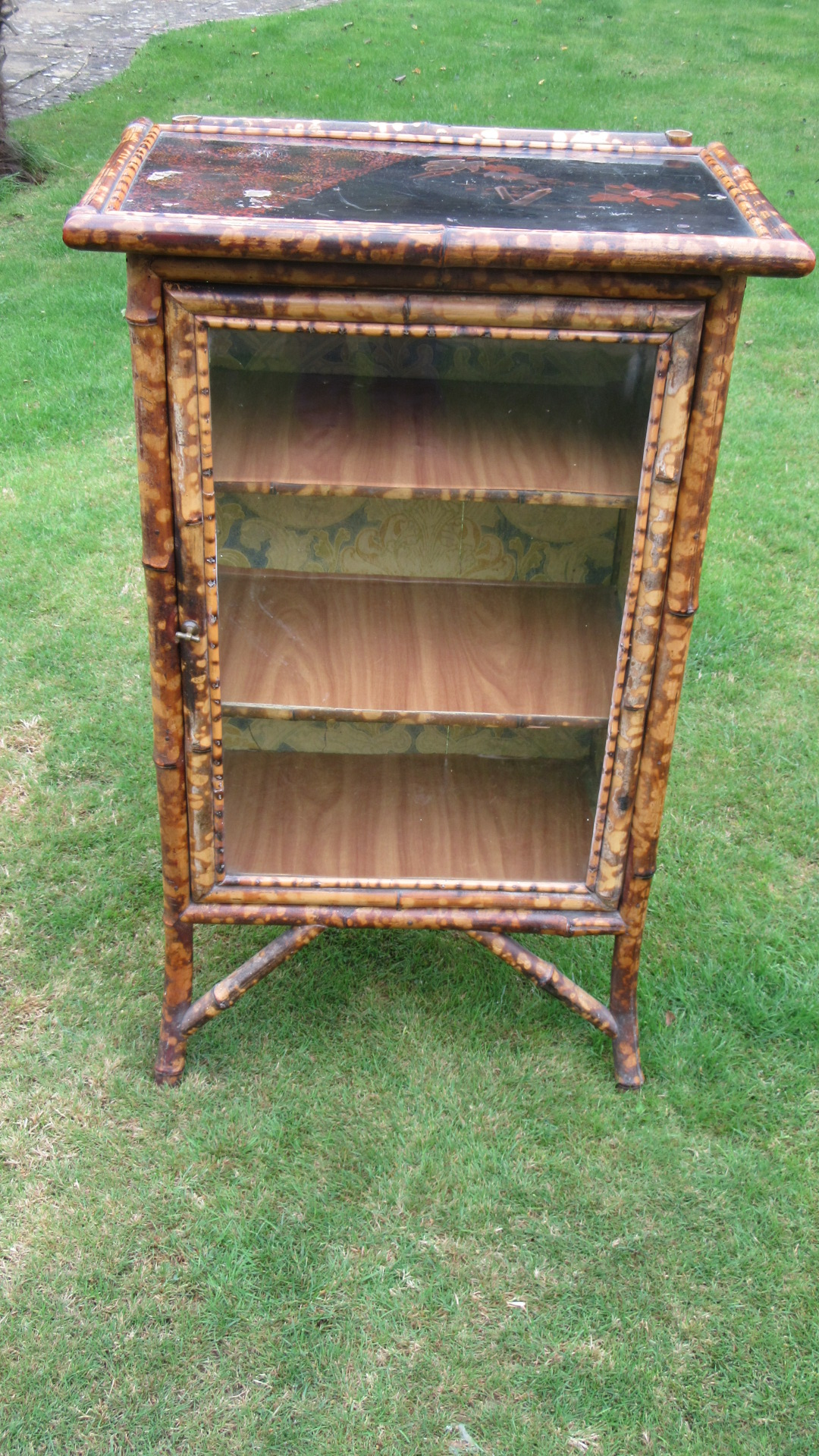 ANTIQUE VICTORIAN BAMBOO CUPBOARD