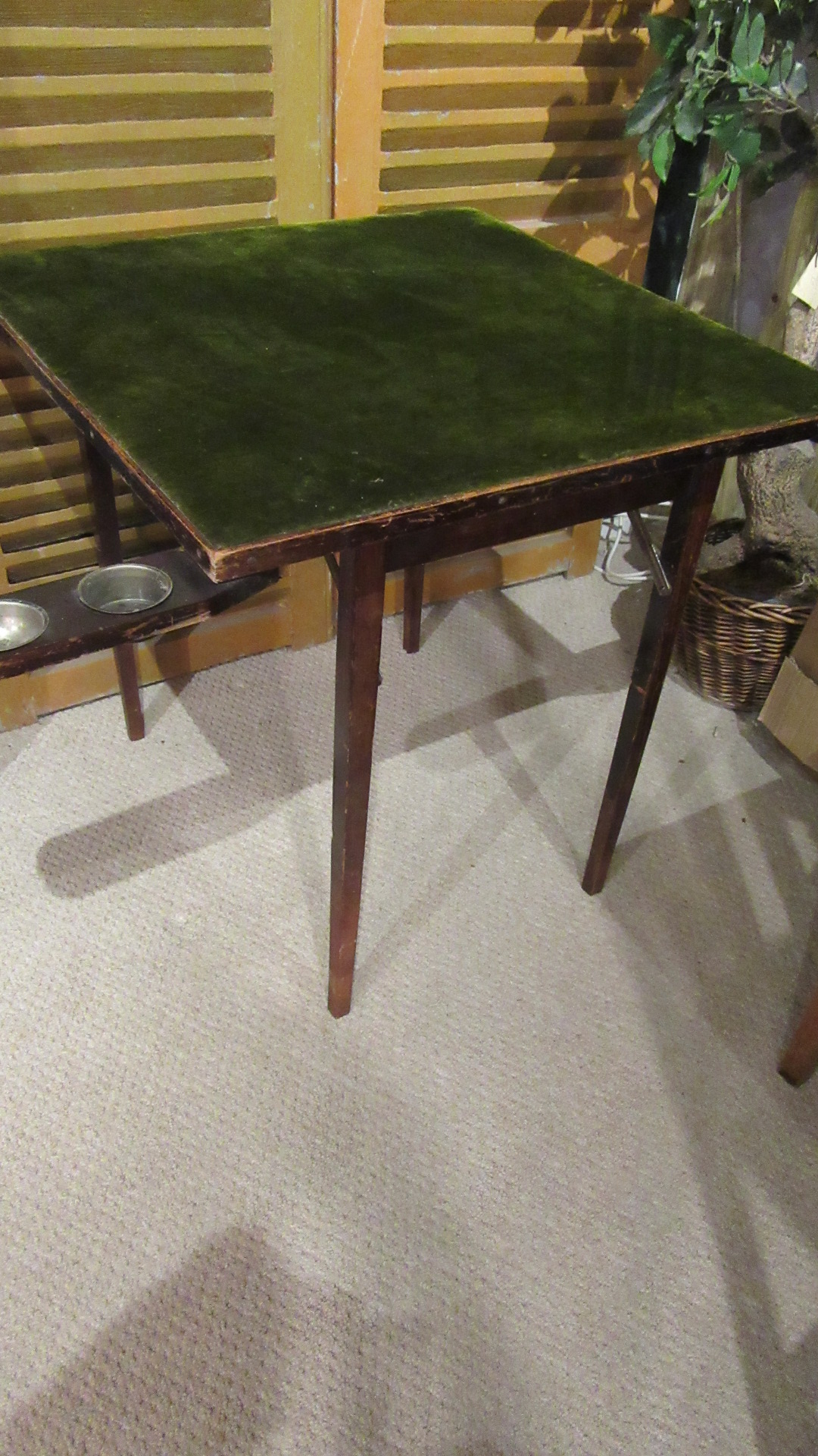 ANTIQUE EDWARDIAN FOLDING GAMES TABLE