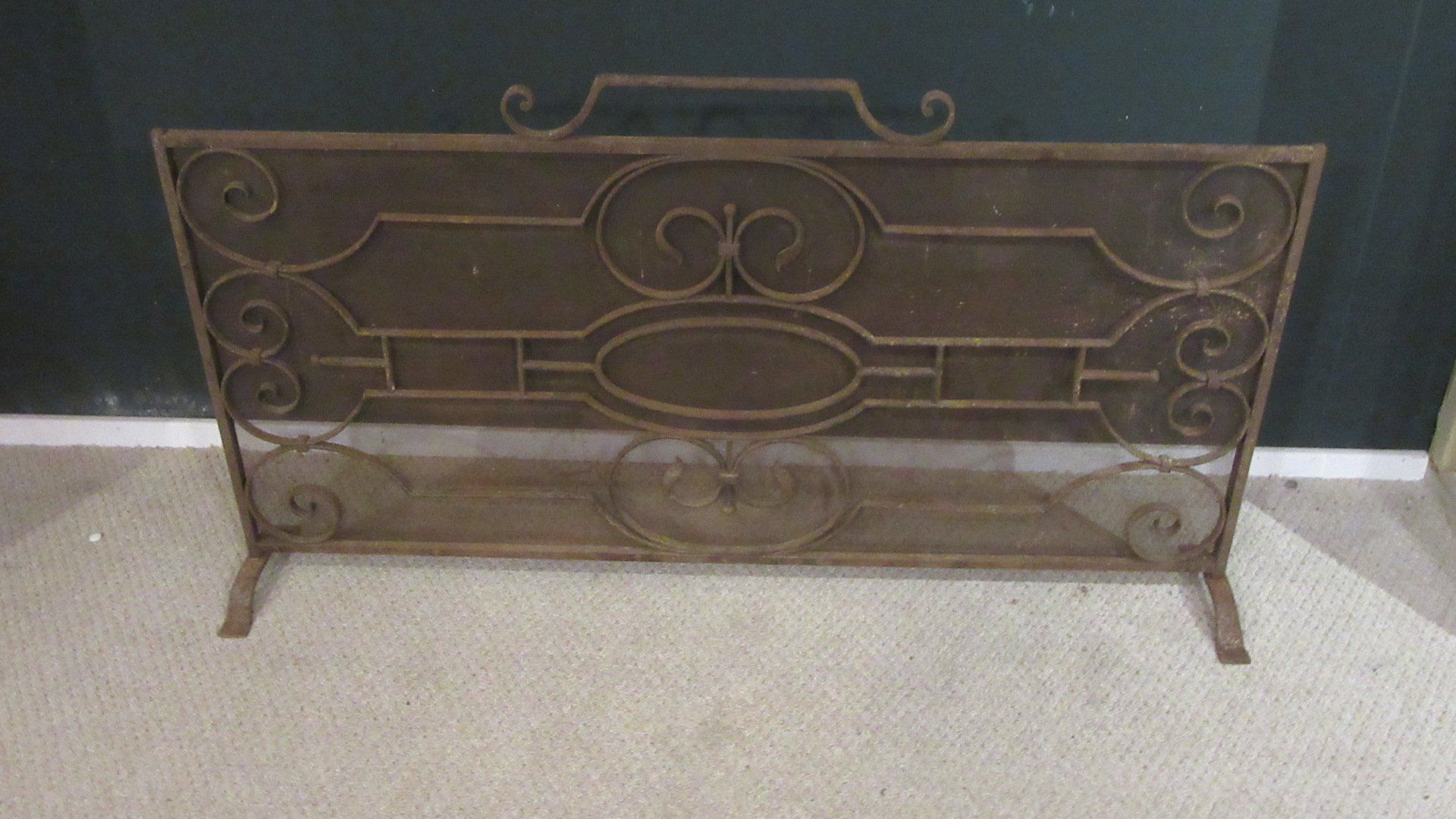 LARGE VINTAGE WROUGHT IRON SPARK GUARD
