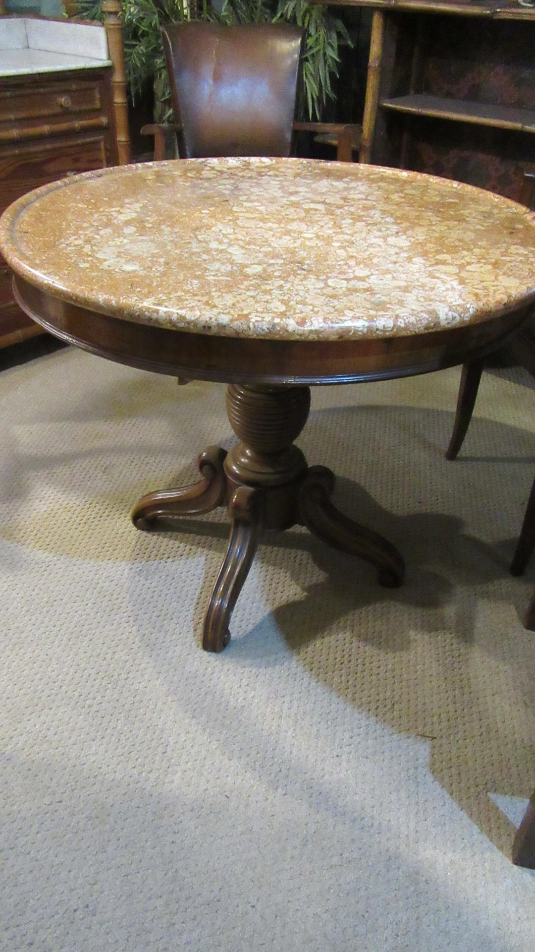 ANTIQUE FRENCH FRUIT WOOD GUIRIDON TABLE