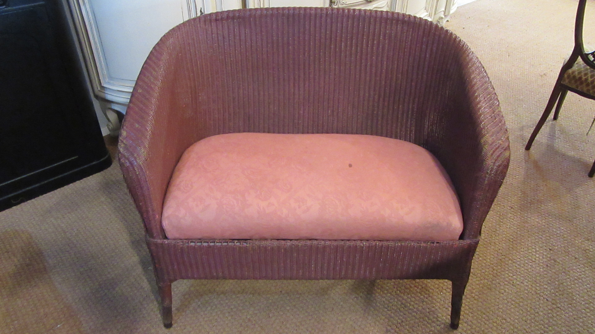 RARE SIZE ANTIQUE LLOYD LOOM SOFA