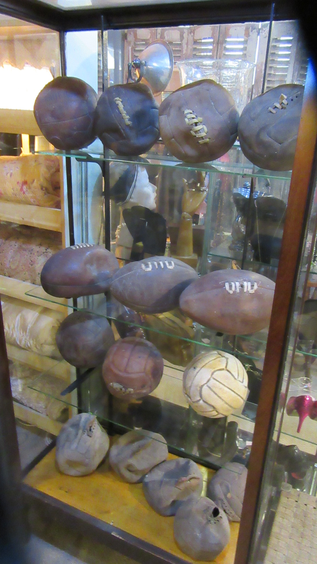 15 VINTAGE RUGBY FOOTBALL NETBALL LEATHER BALLS