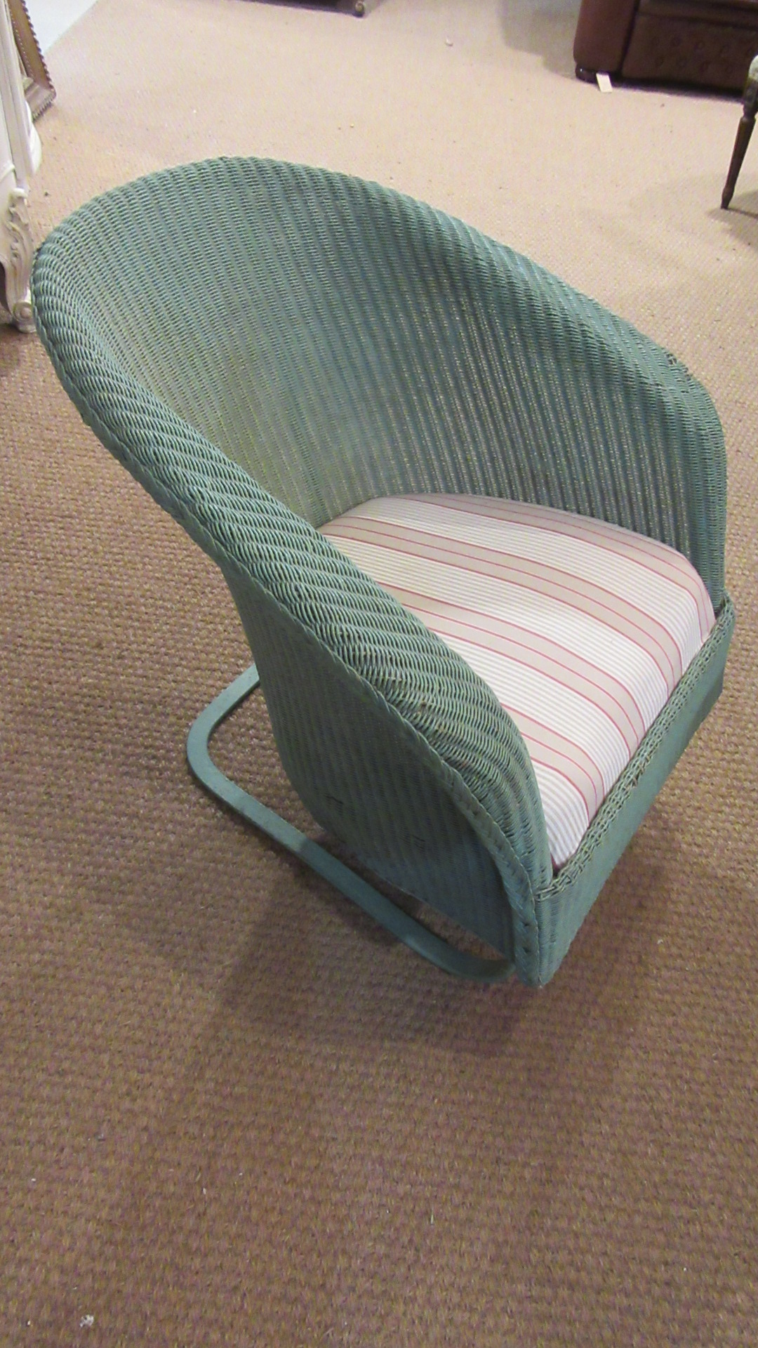 ANTIQUE LLOYD LOOM ROCKING CHAIR    RARE MODEL