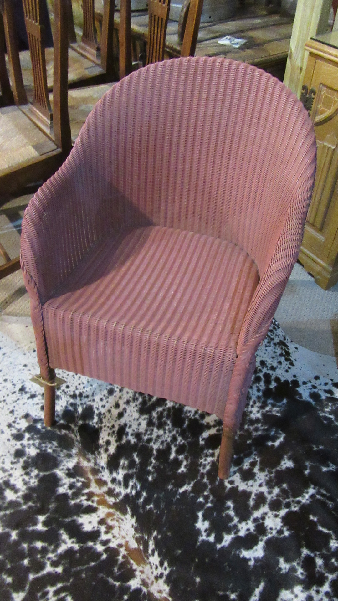 antique lloyd loom armchair