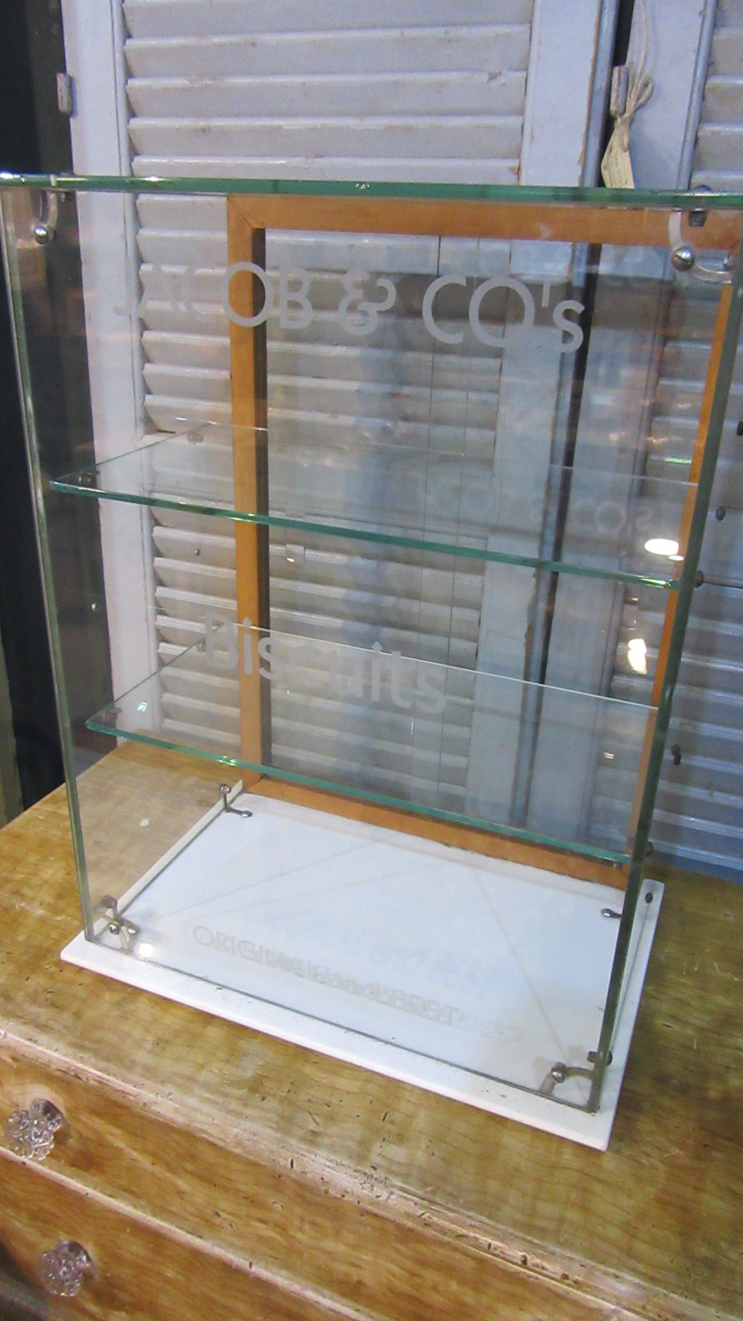 ORIGINAL VINTAGE JACOBS BISCUITS SHOP DISPLAY CABINET