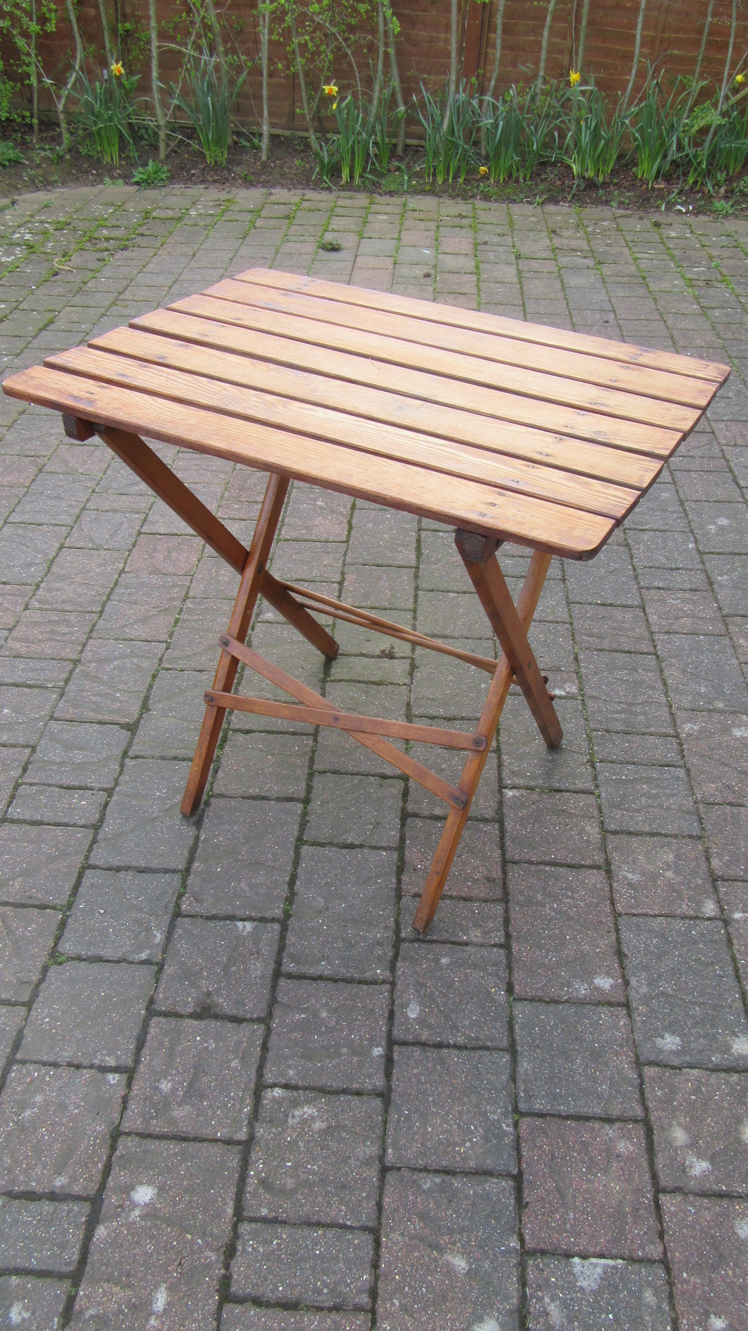 ANTIQUE EDWARDIAN PINE FOLDING PICNIC TABLE