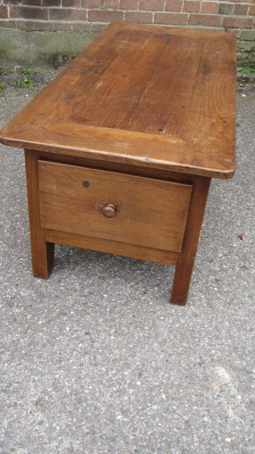 ANTIQUE FRENCH DOUBLE DRAWER COFFEE TABLE