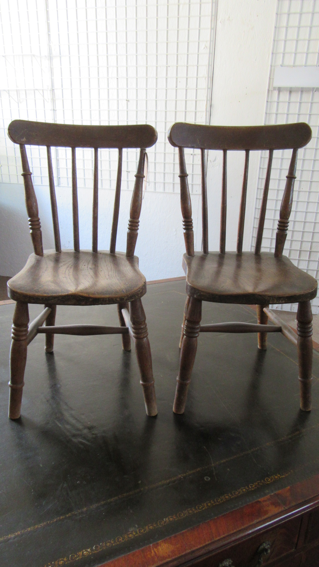 PAIR OF ANTIQUE CHILDRENS WINDSOR CHAIRS