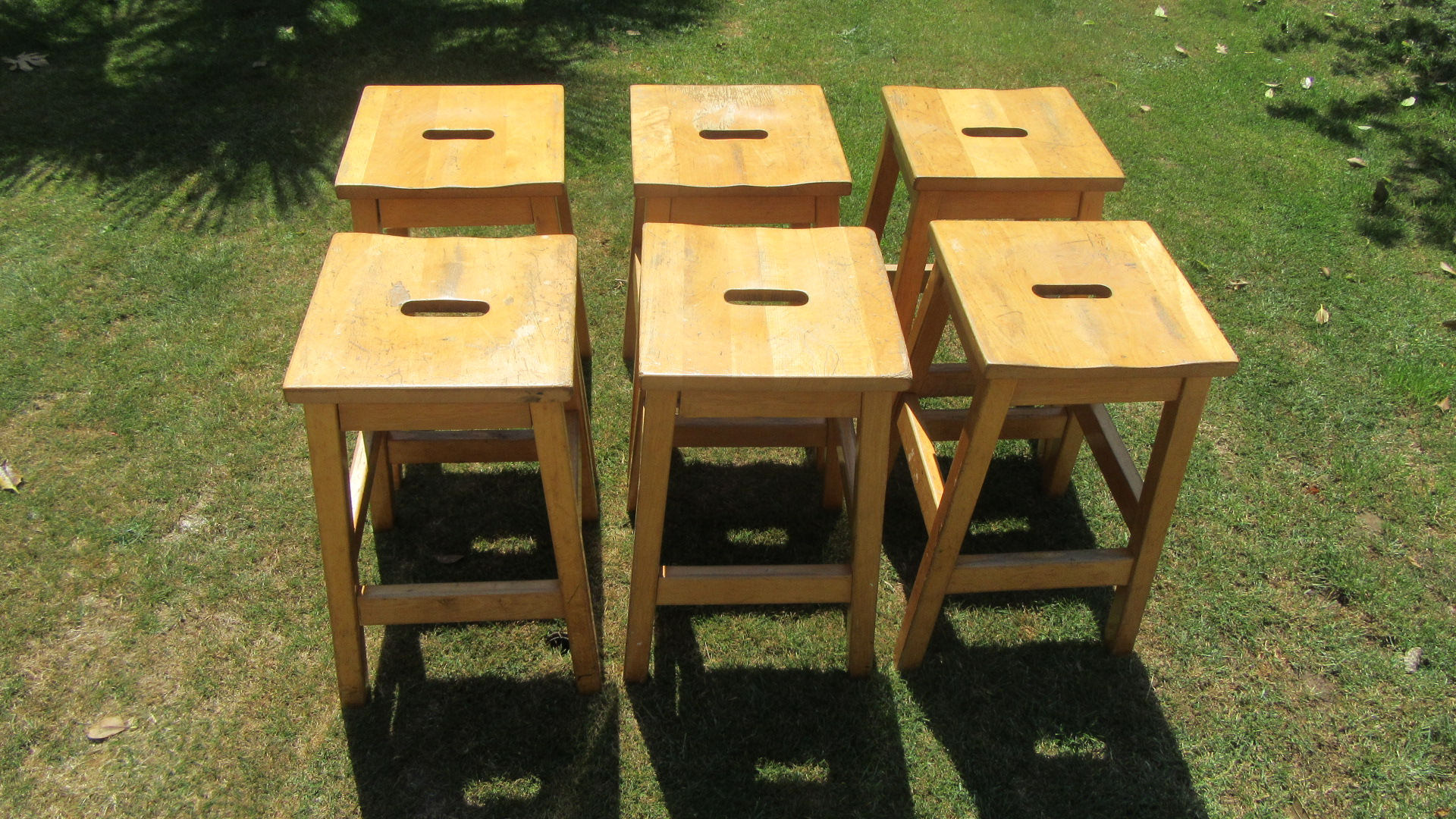 50 vintage lab stools sold as a lot of sets !