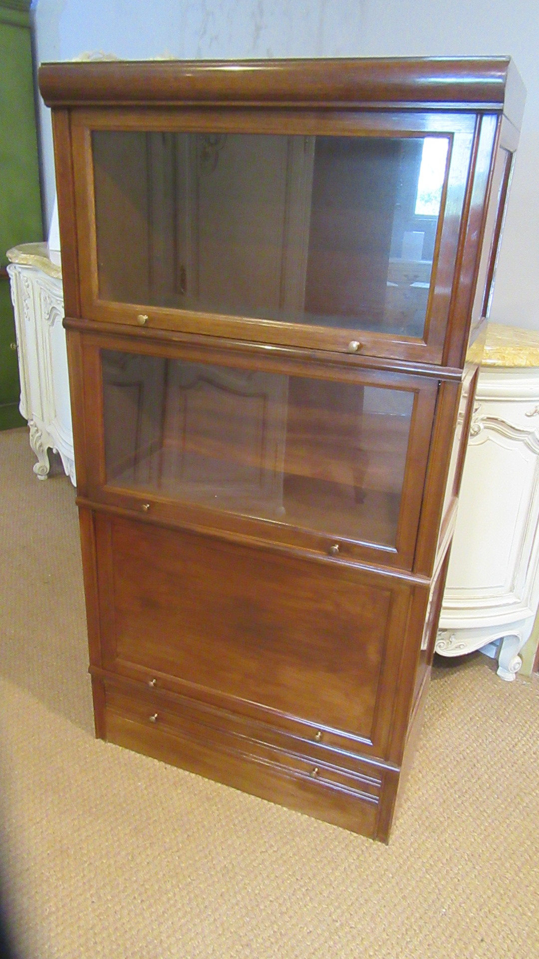 VINTAGE FRENCH THREE TIER STACKING BOOKCASE