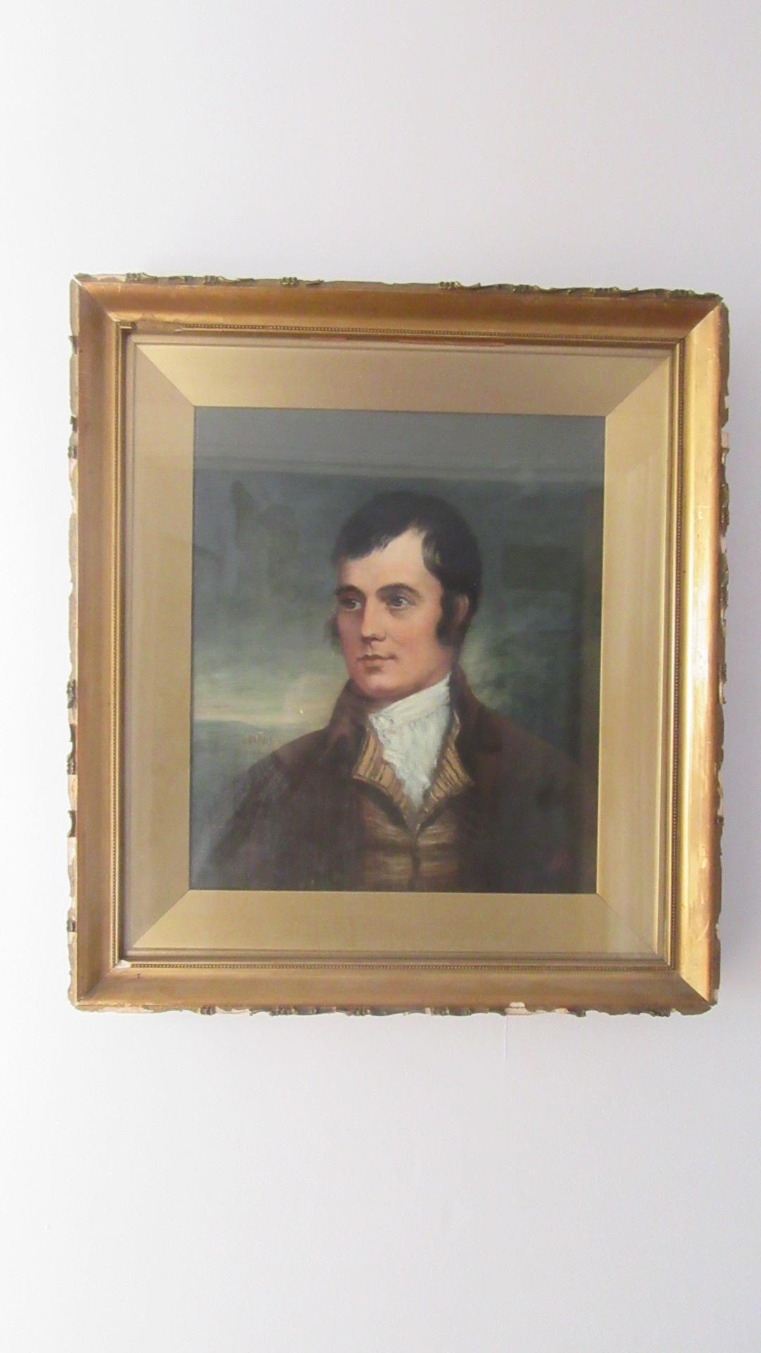 ANTIQUE PORTRAIT OF A GENTLEMAN ROBERT BURNS