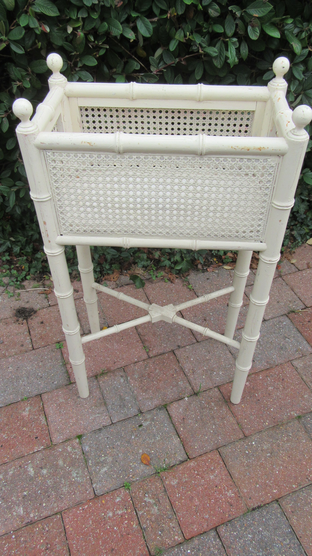 ANTIQUE FAUX BAMBOO PLANT STAND